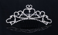 antique platinum jewelry - Newest Design Luxury Royal Bridal Crowns Heart Rhinestone Handbands For Prom Evening Party Shining Jewelry Girls Homecoming Party