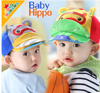 brand baseball cap - MZ2501 Brand GONGZHUMAMA New Spring Style Cute Hippo Divers Baby Infant Baseball Caps Cotton dandys