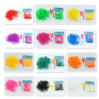 Cheap 12bags Korean Fashion Rubber DIY Loom Bands Handmade Woven Bracelet Making Kit 300   bag