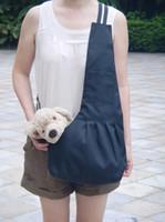 Wholesale S M L Outdoor Pet Dog Cat Puppy Sling Single Shoulder Bag Carrier Holder Tote Black