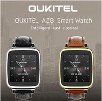 Wholesale Oukitel A28 Smart Watches with Leather Wristband smartwatch for Samsung HTC Huawei LG Xiaomi Android For Apple IOS Smartphones