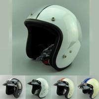 Los cascos cascos de los cascos libres del verano del envío abren la motocicleta de la cara del casco de la motocicleta de la vendimia de la CARA que compite con los cascos del DOT