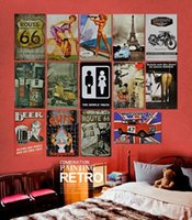 Cheap wholesale 50piece lot iron painting Tin Sign Bar pub home Wall Decor Retro Metal Art Poster Free Shipping