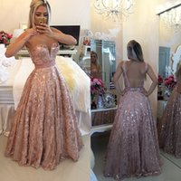 ball gown evening dresses pink - Custom Made Coral Ball Gown Sequin Elegant Long Evening Gowns Sexy Beads Formal Dresses Evening
