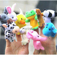 Wholesale Hot Selling set sets Zoo Farm Animal Plush Hand Puppets Finger Soft Toy To Baby Children Kids