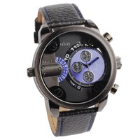 Casual best military watch - Hot OULM Men s Quartz Sports Watch Multiple Time Zone Casual watches Analog Military wristwatch Best father gift