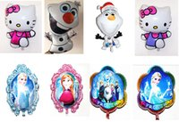 hello kitty balloons - Cartoon Frozen Anna Elsa Sets bubble hydrogen balloon Frozen Olaf Hello Kitty Ballon Party decoration foil balloons