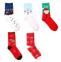 Wholesale good quality Christmas Socks Santa Claus Socks Elk Snowflake Snowman Cotton Socks For Christmas Different Patterns