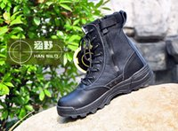 Cheap Swat Men's Tactical Boots Zipper Design Desert Boots Male Combat Shoes