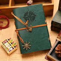 Wholesale Vintage Diary Leather notebook paper A5 Kraft Sketchbook Graffiti Sketch book Office school supplies Notebooks and journals