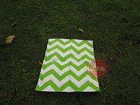 Wholesale Monogrammable Cotton Canvas Chevron Printed Garden Flag in Colors