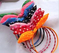 Wholesale Girls bowknot hair band head hoop baby girl children hair accessories baby hair hoop with big bow kids hair sticks hair clips