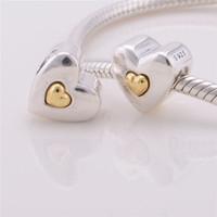 Convient Pandora Charms Bracelet authentique Bijoux Livraison gratuite 925 Silver Bead Joyeux anniversaire Coeur Charm DIY