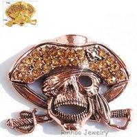 aqua scarves - 2015 Fashion Vintage Brooch Jewelry Accessories Brooch skull Crystal Rhinestone Scarf Pins Brooches For Women or men jewelry