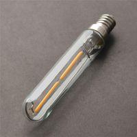 base metal beads - Creative LED Bulbs E14 Lamp Base Bulb LED Lamp Beads Individuality Straight Pipe Metal Spraying Glass Light Bulb MM V
