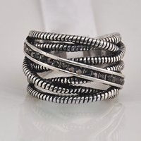Wholesale antique style multilayers alloy gemstone metal ring