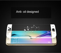 available definition - Screen protectors D curved temptered glass for samsung S6 edge multi colors available mm thickness high definition phone protect glass