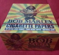 Cheap 50booklets lot BOB Marley 33 extra long leaves Pure hemp paper natural gum size 108*54mm cigarette rolling papers smoking papers
