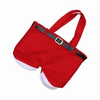 Wholesale Santa Pants Christmas Gift Bag Christmas Decorations Supplies Xmas Candy Bag GOG