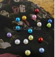 acrylic shank buttons - 1000pcs Pearly mix color mm Acrylic Novelty shank buttons Domed Pearl Buttons