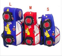 Wholesale schooll bag Cartoon Car size blue red kinds Children backpack boy bags children s kindergarten primary bag