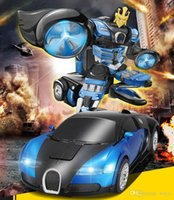 Wholesale 2015 New Hot TT663 Robort Minions electric Transformation Remote Control RC Car Bugatti action figures class Boys Christmas Gift for Boys