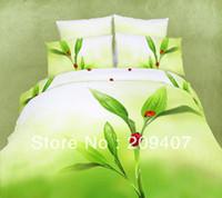 Wholesale Luxury Oil Painting Cotton King Size Flower Bedding Bed Set Duvet Covers set Z009