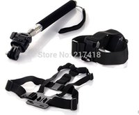 tripod screen - 2015 Ps Vita Lcd Screen Grip Ps Vita Gopro Accessories Kit Chest Harness Strap Head Monopod Tripod Mount for Hero
