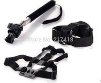 tripod screen - Ps Vita Lcd Screen Grip Ps Vita Gopro Accessories Kit Chest Harness Strap Head Monopod Tripod Mount for Hero