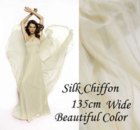 almond paste - Solid Color ALMOND PASTE Gorgeous Pure Silk Soft Sheer Chiffon Fabric momme for By The Meter Yard inches alpc