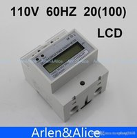 Wholesale 20 A V HZ DDS238 Single phase Din rail KWH Watt hour din rail energy meter LCD
