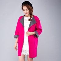 Wholesale Pure cashmere mink coat factory direct fall and winter clothes new women mink cashmere wool coat lapel Europe and the United simple