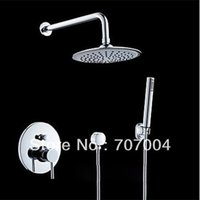 Wholesale Modern Wall Mounted Shower Set Faucet w Sprayer Handheld Shower Round Shower Head