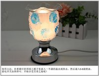 Wholesale New Style Glass rose fragrance lamp Dimming dimmable Plug electric Bedroom Valentine s Day gift as chirstmas present Help sleep