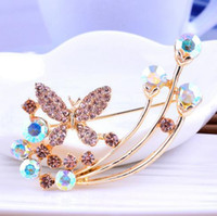 aqua sweaters - Genuine alloy jewelry Brooch the butterfly sweater accessories factory direct low price mixed b9xxw