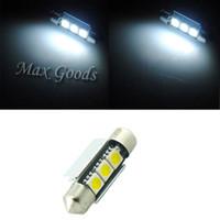 Wholesale 2PCS mm CANBUS Error Free LED SMD C5W License Plate White Dome Festoon Light Bulb