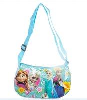 Wholesale Fashion Cartoon Girls Messenger Bag Purse Elsa Anna Printed hand bag Girls Coin Purse Best girl s gift Children HandBags