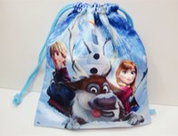 Cheap New Arrival Frozen Princess Pouch Bag Cute Frozen Drawstring Pouch Bag Waterproof Cosmetic Bags Sanitary Napkins Bag 12pcs lot