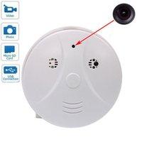 Wholesale 1280 Spy Mini hidden camera Remote control smoke detector alarm home security cameras recorder