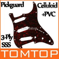Wholesale Hot Sale Red Tortoise Shell Pickguard Scratch Plate Ply SSS For ST Strat Guitar I127R
