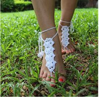american trade products - Crochet anklet Hot Women s European and American trade cotton crochet jewelry wedding barefoot beach accessories Hot Products anklets