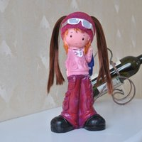Wholesale Supply quot glasses Cool Girl quot resin crafts hand painted toy doll classmates