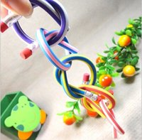 Pencils YES     H Low Price 18cm bendable flexible soft fun pencil with eraser toys gifts prize kids school Children's Toys & Gifts