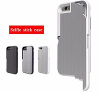 Cheap 2016 New Brand Stikbox 3 in 1 Aluminum Selfie Stick Case for Iphone 6 6s Plus Phone Holder Back Cover Coque a Fundas Para Celuar