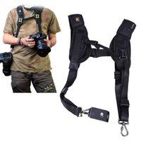 Wholesale Black Double Shoulder Sling Belt Quick Rapid Strap for DSLR Digital SLR Camera Professional Straps For Two Cameras