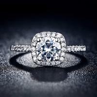 al por mayor accessories for woman-Los anillos de bodas de plata de ley 925 anillos de joyería de las mujeres de lujo de compromiso MSR035 Accesorios cuadrada bague AAA zirconia bijoux