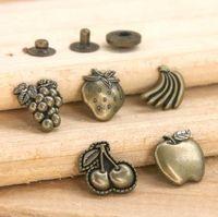 Wholesale sets Fruit style DIY Snap Button Snap Cute shape Snap fastener Mix design is accept
