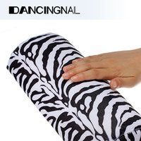 Wholesale Soft Zebra Stripe Hand Rest Cushion Pillow Nail Art Design Equipment Manicure Half Column Sponge Tools A3