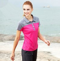 Wholesale Women s outdoor quick drying hiking T shirt comfortable and soft climbing short sleeve tops anti sweat breathable sport cloth