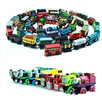 Wholesale Wooden Small Trains Cartoon Toys Styles kids train wooden Toys Trains Friends Wooden Trains Car Toys blended batches